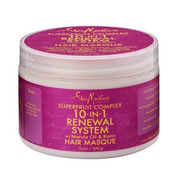 "SHEA MOISTURE Masque capillaire antioxydant Marula & Biotine ""10-in-1"" 340g"