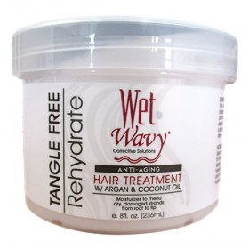 "WET N WAVY Masque capillaire anti-âge ARGAN & COCO 236ml ""Hair Treatment"""