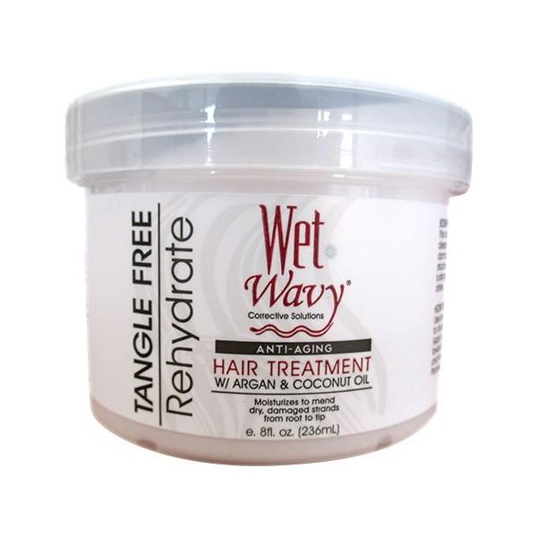 """WET N WAVY Masque capillaire anti-âge ARGAN & COCO 236ml """"Hair Treatment"""""""