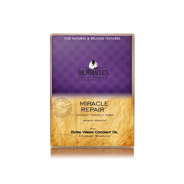 """DR MIRACLE'S Traitement réparation intense HUILE DE COCO VIERGE 3x 49.7g """"Miracle Repair"""""""