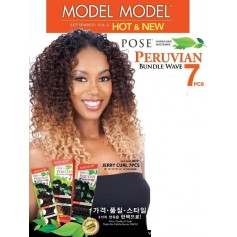 MODEL tissage PERUVIAN JERRY CURL 7PCS (pose)