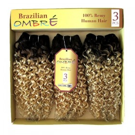 CAREFREE weave BRAZILIAN OMB COIL CURL 3PCS
