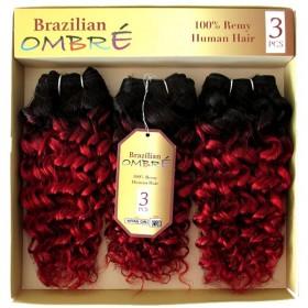 CAREFREE weaving BRAZILIAN OMB NATURAL CURL 3PCS (Sapphire)