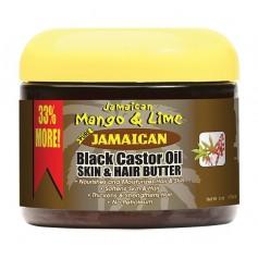 JAMAICAN MANGO & LIME Hair & Body Butter RICIN 177ml (BLACK CASTOR OIL)