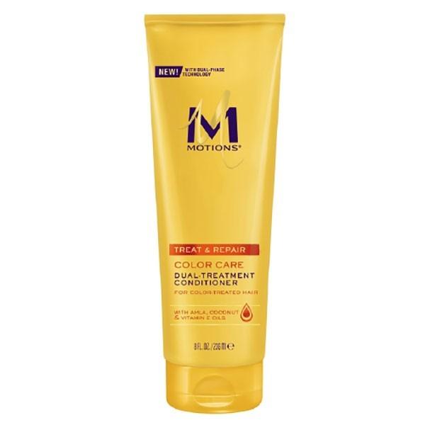 MOTIONS Après-shampooing nourrissant cheveux colorés 236ml (DUAL TREATMENT)