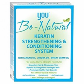 YOU BE NATURAL Kit Kératine revitalisant ARGAN JOJOBA & BLES (Keratin strengthening system)