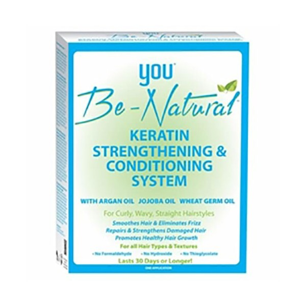 YOU BE NATURAL Kit Kératine revitalisant ARGAN JOJOBA & BLES (Keratin strengthening system)
