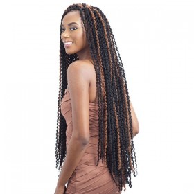 GLANCE natte LONG FINE TWIST OUT 32""