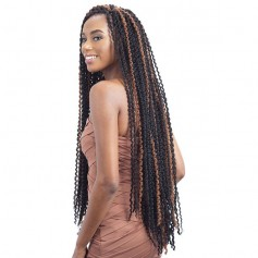 "GLANCE natte LONG FINE TWIST OUT 32"" *"
