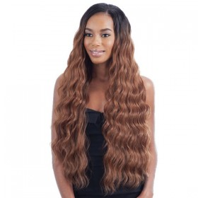 MODEL tissage PERUVIAN LONG SOFT BUNDLE WAVE 7PCS (pose)