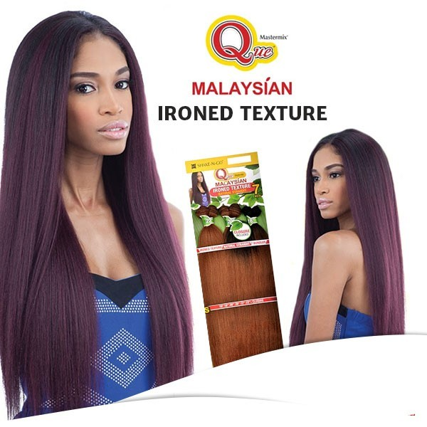"MILKYWAY QUE tissage MALAYSIAN IRONED TEXTURE 7pcs 22""20""18"""