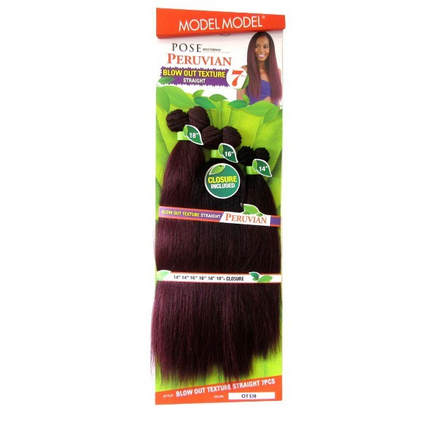 """MODEL tissage BLOW OUT TEXTURE STRAIGHT 7pcs 14""""16""""18"""""""