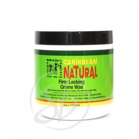 CARIBBEAN NATURAL Cire crèmeuse pour locks COCO MANGUE & CITRON 177ml (Firm Locking Creme Wax)