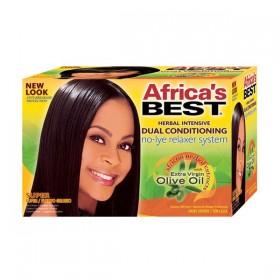 AFRICA'S BEST Système défrisant OLIVE cheveux épais (No-Lye Relaxer)