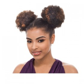 BLACK hairpiece 2pcs AFRO PUFF - 1