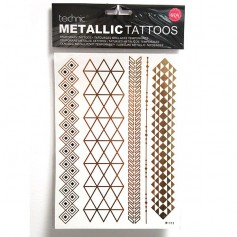 Tatouages métalliques x12