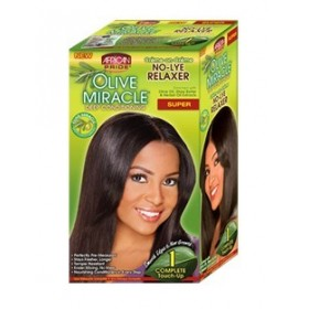 AFRICAN PRIDE Kit défrisant retouche OLIVE MIRACLE formule SUPER (Touch-Up)