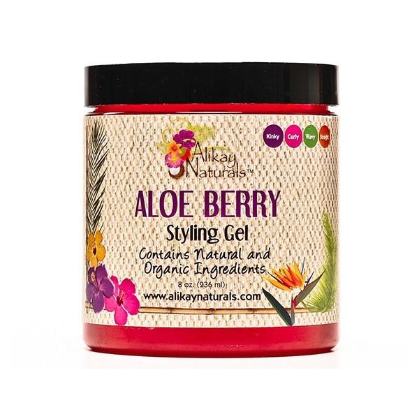 ALIKAY NATURALS Gel coiffant ALOE & FRUITS ROUGES 236ml (Aloe Berry)