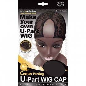 QFITT Cap Invisible Wig Lace Front U-Part 5013 BLACK