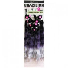 "NEW BORN FREE weaving BRAZILIAN 8Pcs 14""16""18"" NATURAL WAVE"