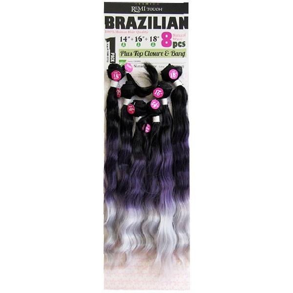 "NEW BORN FREE tissage BRAZILIAN 8Pcs 14""16""18"" NATURAL WAVE"