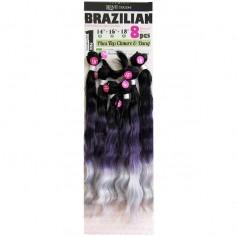 "NEW BORN tissage BRAZILIAN 8Pcs 14""16""18"" NATURAL WAVE"