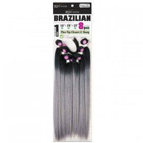 "NEW BORN FREE tissage BRAZILIAN 8Pcs 14""16""18"" YAKI STRAIGHT"