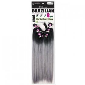 "NEW BORN FREE WEAVING BRAZILIAN 8Pcs 14""16""18"" YAKI STRAIGHT"
