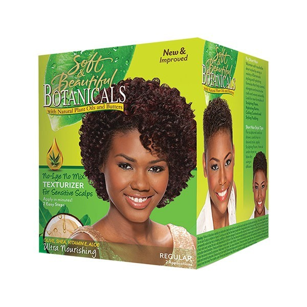 SOFT & BEAUTIFUL BOTANICALS Kit défrisant sans Soude formule SUPER NO MIX TEXTURIZER