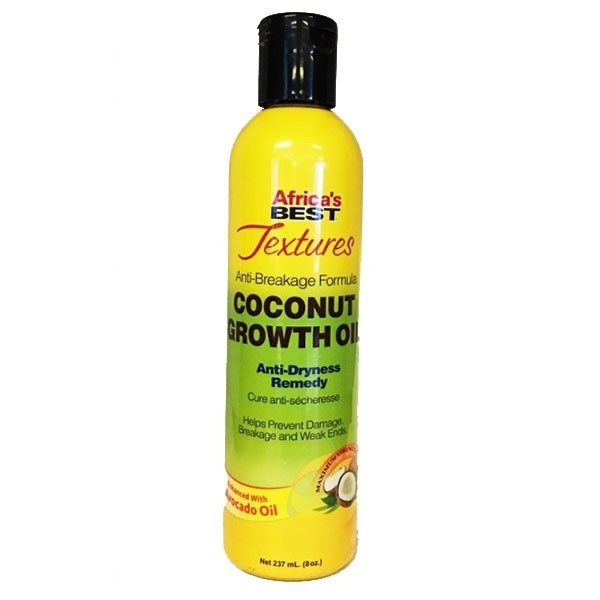 AFRICA'S BEST TEXTURES Huile de croissance AVOCAT & COCO 237ml COCONUT GROWTH OIL