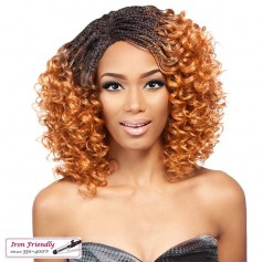 IT'S A WIG perruque nattée LACE INVISIBLE BRAID CURLY