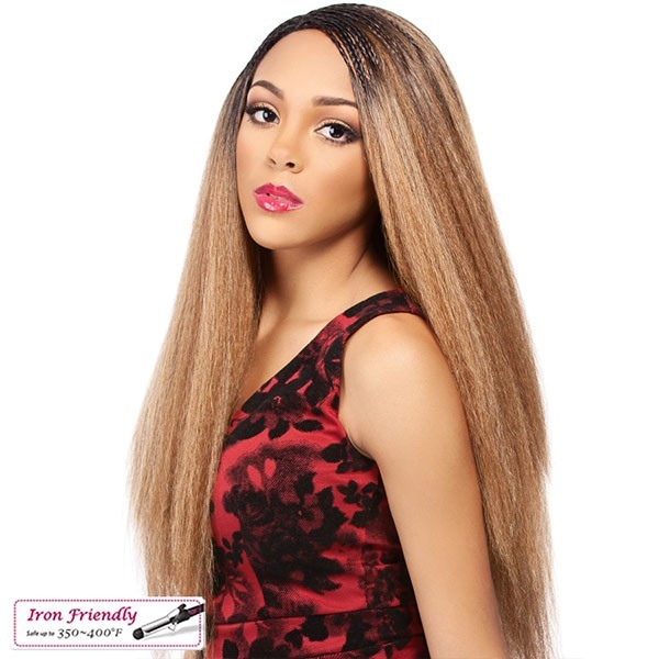 IT'S A WIG perruque LACE INVISIBLE BRAID YAKI LONG
