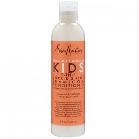 SHEA MOISTURE 2 en 1 shampooing & conditionneur COCO HIBISCUS KIDS Curl & Shine 236ml