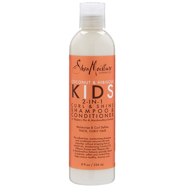 SHEA MOISTURE 2 en 1 shampooing & conditionneur COCO HIBISCUS KIDS Curl & Shine 236ml