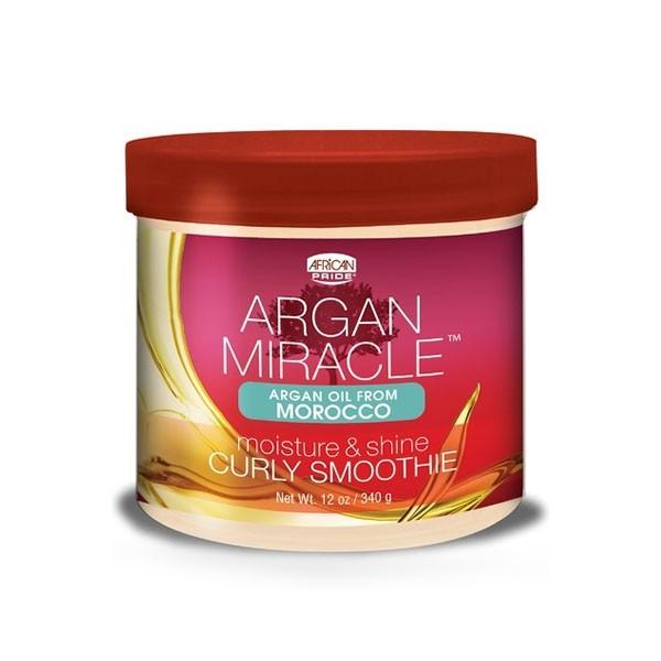 AFRICAN PRIDE Crème hydratation et définition boucles ARGAN CURLY SMOOTHIE 340g