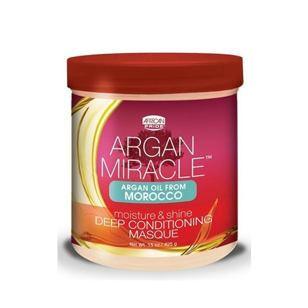 AFRICAN PRIDE Masque hydratation intense ARGAN DEEP CONDITIONING MASQUE 425g