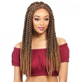 IT'S A WIG perruque nattée LACE CUBAN TWIST (Lace Front)