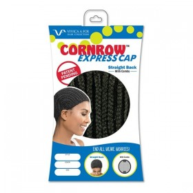 VIVICAFOX cap for crochet wigs with combs CORNROW STRAIGHT BACK