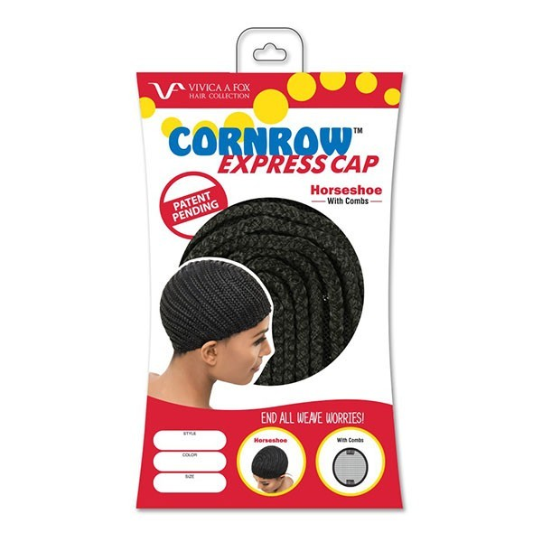 VIVICAFOX bonnet pour perruque en crochet avec peignes CORNROW STRAIGHT BACK