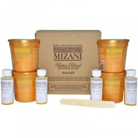 MIZANI Kit défrisant BUTTER BLEND cuir chevelu sensible x 4 (Rhelaxer)
