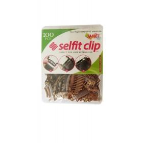 Selfit clip marron 100pcs JANET