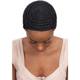 MODEL bonnet tressé pour tissage ou crochet BRAIDED CAP FULL BANG PATTERN