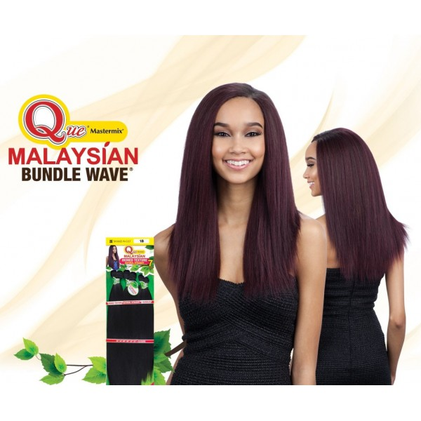"MILKYWAY QUE tissage Malaysian IRONED TEXTURE NATURAL STRAIGHT 7pcs 14""13""12"""