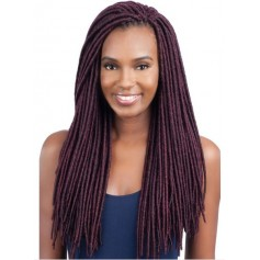 "GLANCE natte 2x SOFT FAUX LOC 18"" MEDIUM (Loop)"