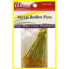 """ANNIE 3198 Pics métalisés pour bigoudis x12 """"metal roller pins"""""""