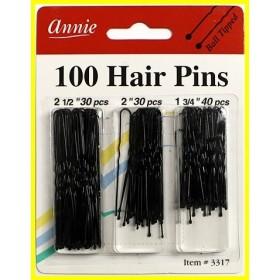 """ANNIE 3317 Snow Pins 3 sizes x100 """"hair pin combo"""
