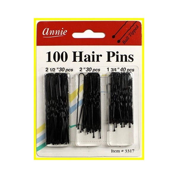 "ANNIE 3317 Epingles neige 3 formats x100 ""hair pin combo"""