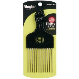 "MAGIC 2410 Peigne afro métal ""metal pik"""