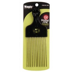 "MAGIC 2407 Peigne afro métal ""long metal pik"""