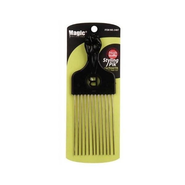 MAGIC 2407 Long metal pik afro comb